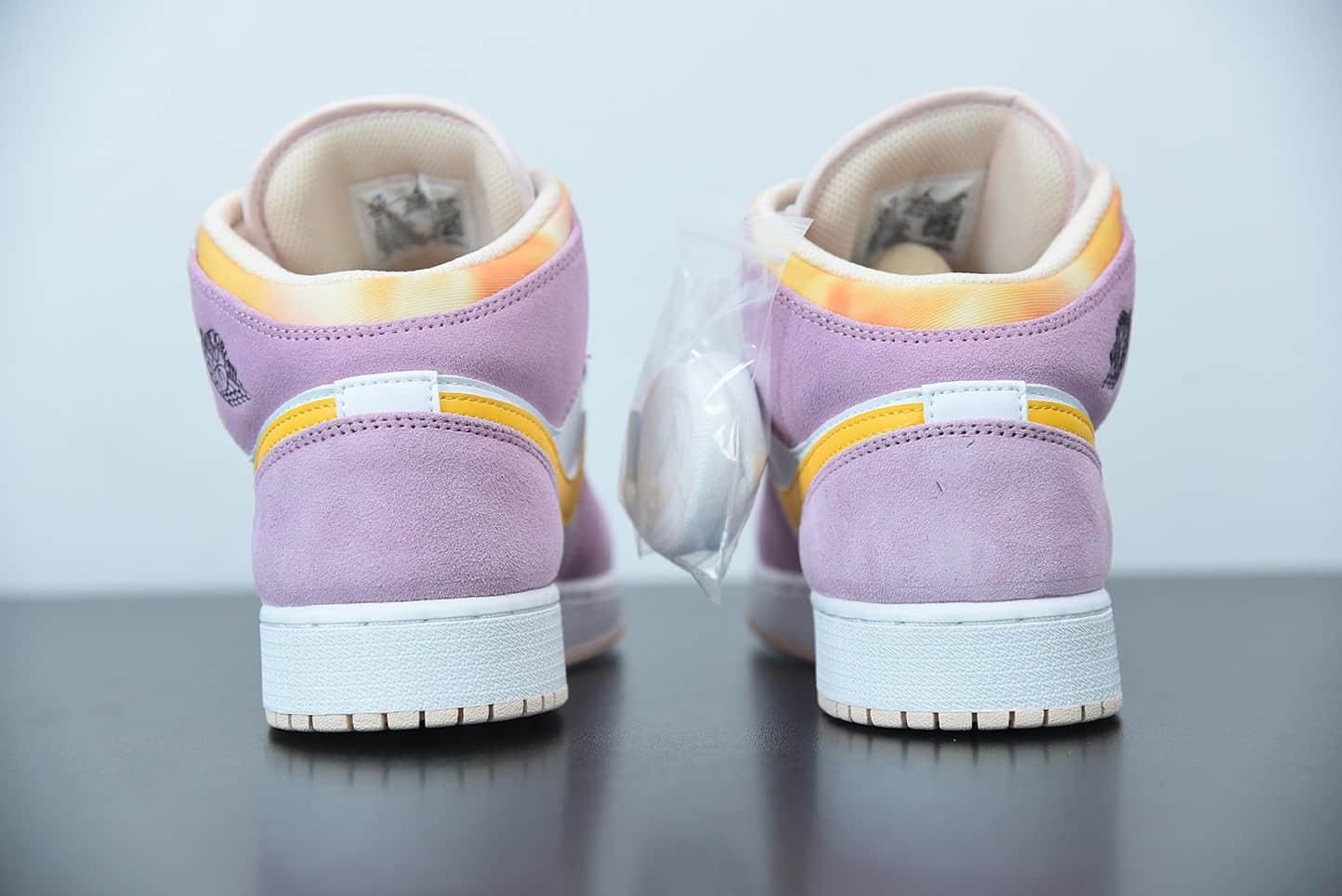 乔丹Air Jordan 1 Mid SE少女粉中邦篮球鞋纯原版本 货号:DC9517-600