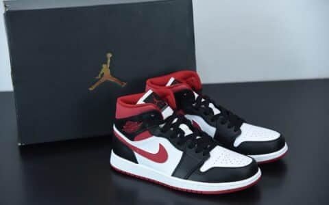 乔丹Air Jordan 1 Mid白红黑中帮复古休闲板鞋纯原版本 货号:554724-122