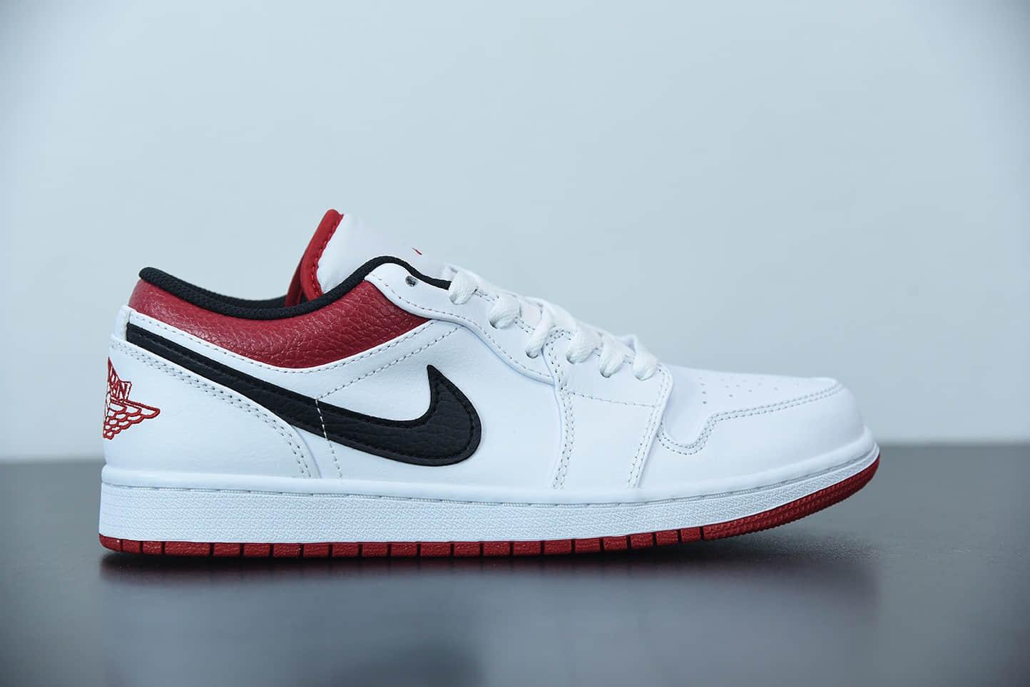 乔丹Air Jordan 1 Low 白红芝加哥低帮休闲板鞋纯原版本 货号:553558-118