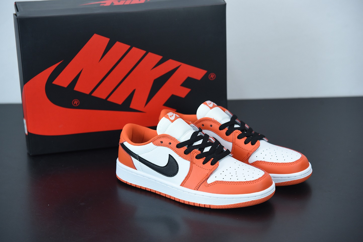 乔丹Air Jordan 1 Low 乔丹1代白橙白扣碎低帮篮球鞋纯原版本 货号:CZ0790-801