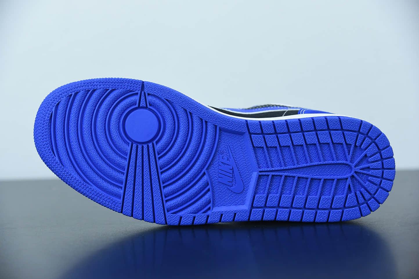 乔丹Air Jordan 1 Low 白蓝黑拼接低帮复古文化篮球鞋纯原版本 货号:DH0206-400