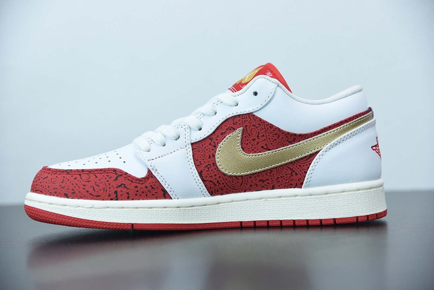 乔丹Air Jordan 1 Low AJ1白红金扑克低帮篮球鞋纯原版本 货号:DJ5185-100
