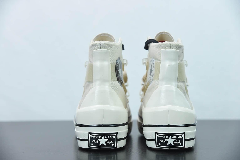 匡威Kim Jones x Converse Chuck Taylor All Star 1970s 重磅联名米白色高帮帆布鞋纯原版本 货号:171258c