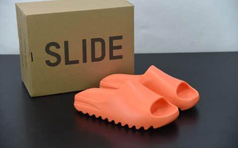 """阿迪达斯Adidas Kanye West x Yeezy Slide""""Resin"""" 椰子橙色拖鞋侃爷再度联名款纯原版本 货号:GZ0953"""
