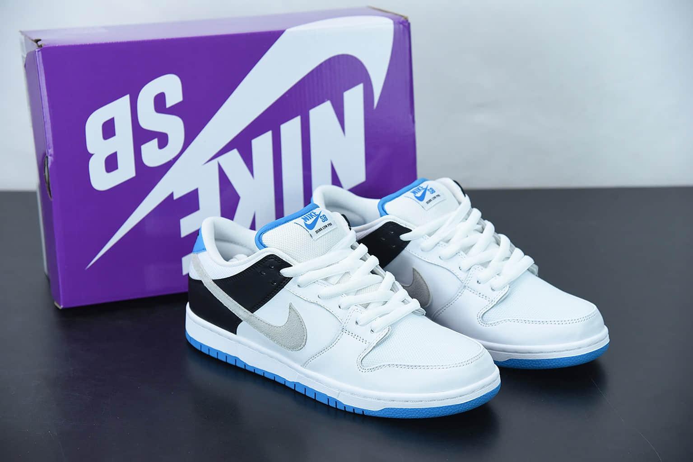 耐克 Nike SB Dunk Low  Laser Blue  白黑蓝低帮运动休闲板鞋纯原版本 货号:BQ6817-101