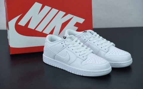耐克 Nike SB Dunk Low Prm 纯白配色SB扣碎篮板时尚休闲板鞋纯原版本 货号:DD1503-109