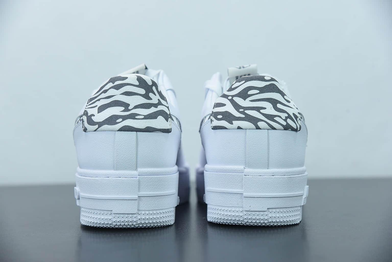 耐克Nike Air Force 1 Pixel 斑马纹像素解构风空军一号低帮厚底休闲板鞋纯原版本 货号:DH9632-100