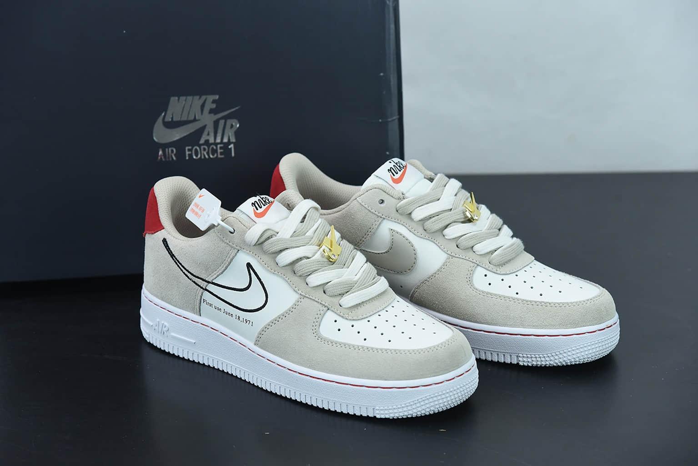 耐克 Nike Air Force 1 Low 拼接勾空军一号低帮百搭休闲运动板鞋纯原版本 货号:DB3597-100