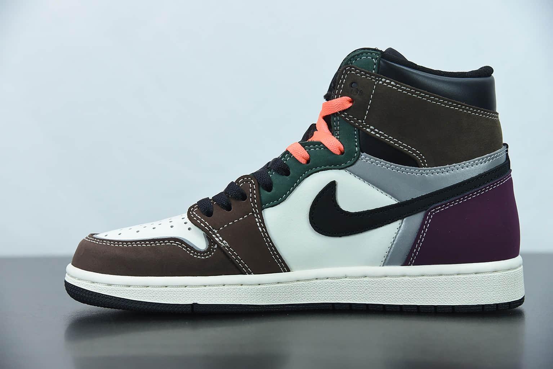 """乔丹Air Jordan 1 High OG """"Hand Crafted"""" 彩色拼接高帮篮球鞋纯原版本 货号:DH3097-001"""