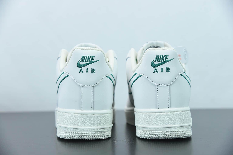 """耐克Nike Air Force 1'07 Low""""米白绿电绣勾""""空军一号低帮休闲板鞋纯原版本 货号:CL6326-128"""